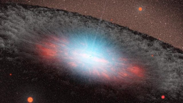 The most ancient black holes grew fat on cosmic fast food