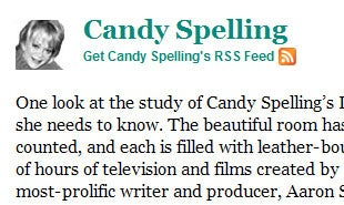 Is Candy Spelling HuffPo's Most Useless Celebrity Columnist?
