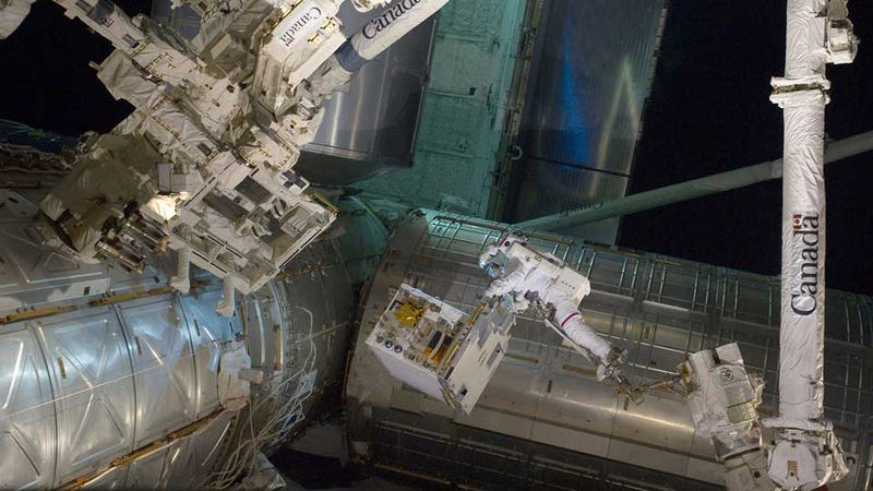 What Is This Astronaut Installing In the ISS?