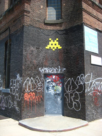 Invader Takes on Brooklyn