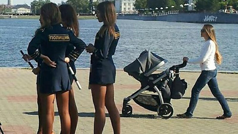 Russian Policewomen to Be Punished For Short Sexy Skirts