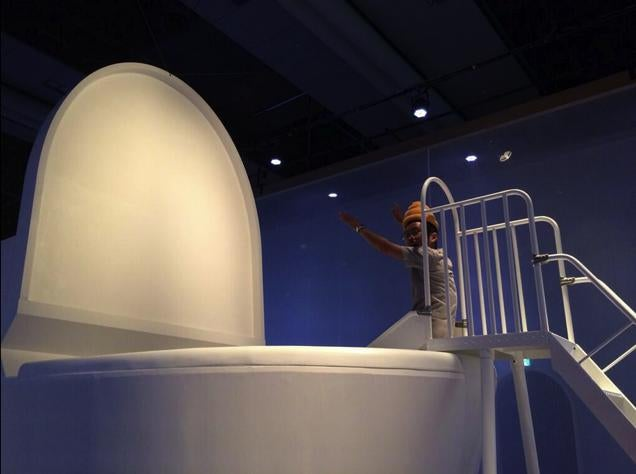 Japanese Children Climb into a Giant Toilet for Science