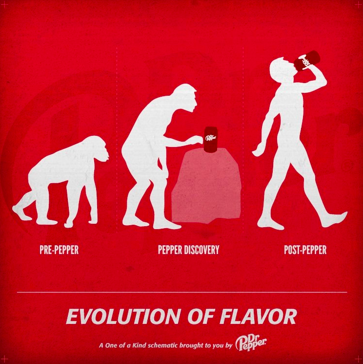 Dr Pepper releases evolution advertisement, the Internet loses its shit and America is fat