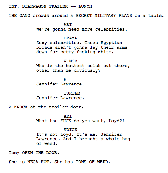 'Leaked Pages' on the Entourage Movie Tumblr Is the Best Thing About the Entourage Movie