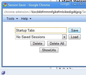 SessionSaver Enables Multi-Tab Saving and Loading in Chrome
