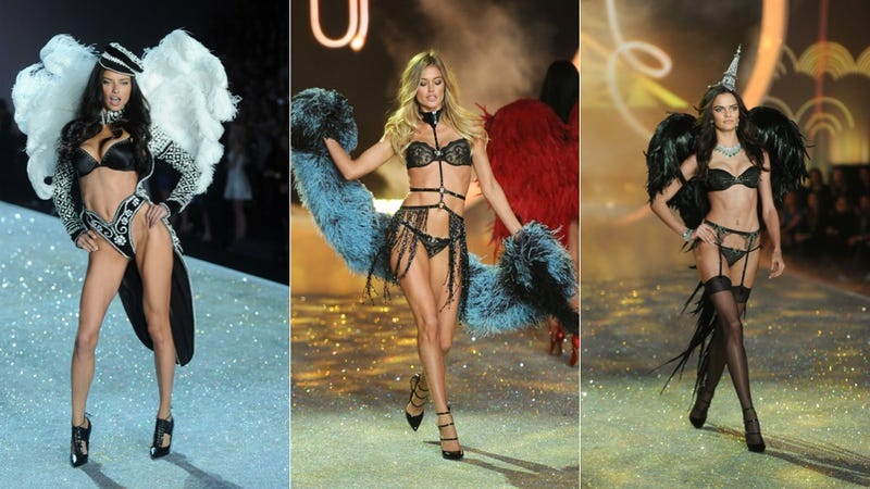 Emoji Lingerie and Snow Angels at the Victoria's Secret Fashion Show