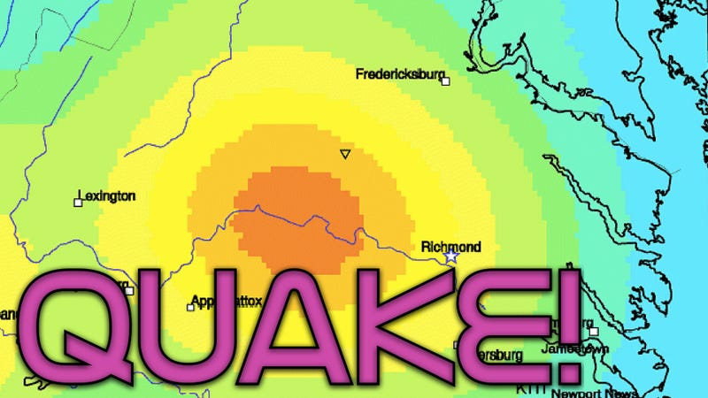 How could an earthquake happen in Virginia?