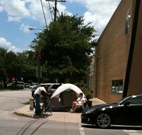 Yes, Some Guy Is Already In Line For The iPhone 4