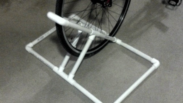Build an Apartment-Sized Bike Rack out of PVC
