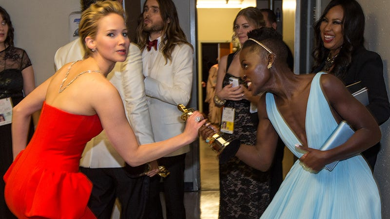 JLaw Tried to Steal Lupita's Academy Award and More Oscars Gossip