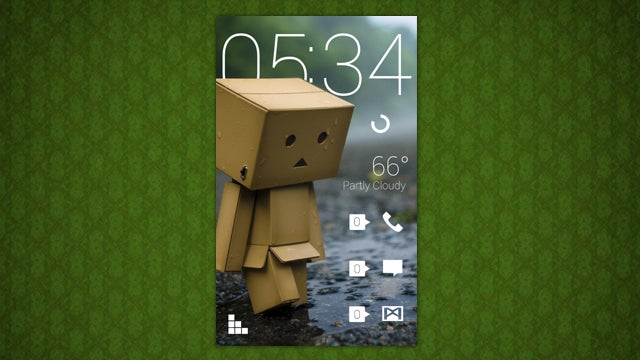The Rainy Danbo Home Screen