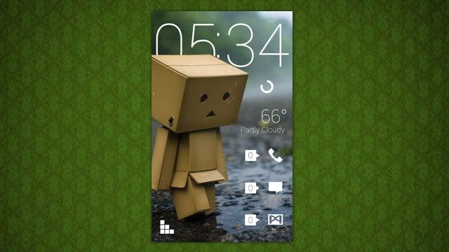 The Rainy Danbo Home Screen