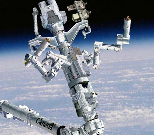 First Pictures of Completed Dextre Giant Space Robot