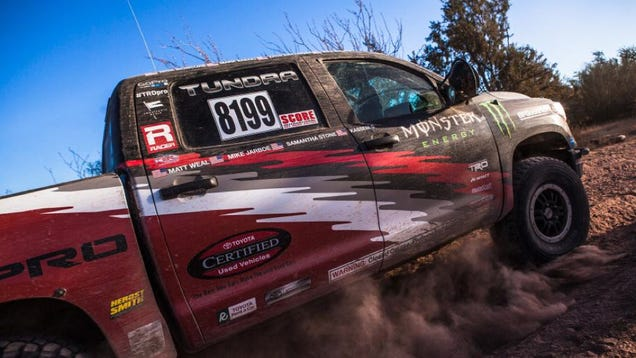 'Full Stock' Toyota Tundra get decent finish at the Baja 1000