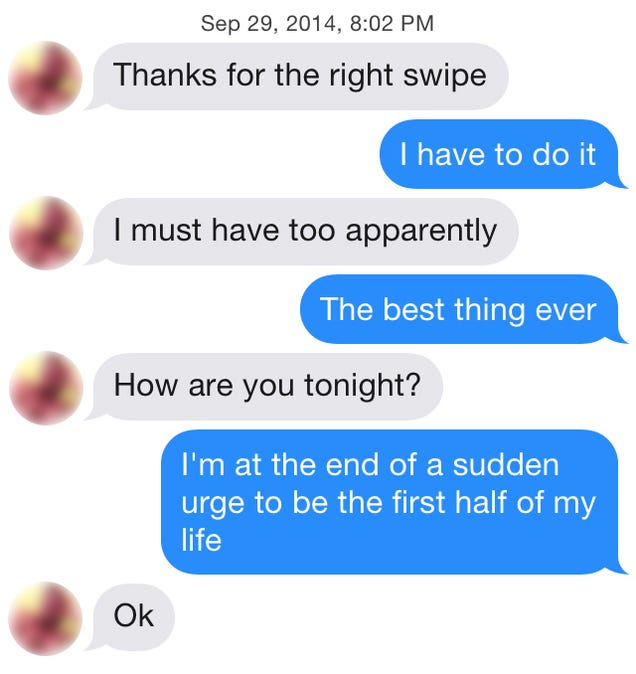 Using ios 8 s quicktype on tinder will not get you laid