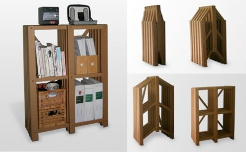 PLoP! Collapsible, Recyclable Bookshelves Perfect For Students, Greens