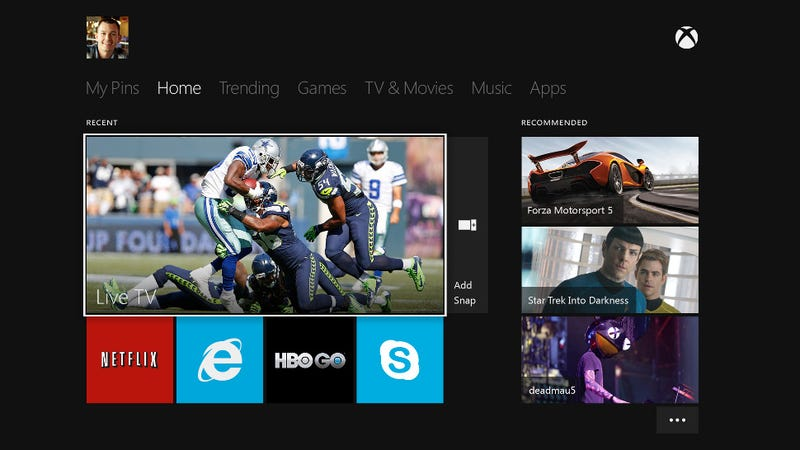 Here's What You Can Watch on the Xbox One In Between Games