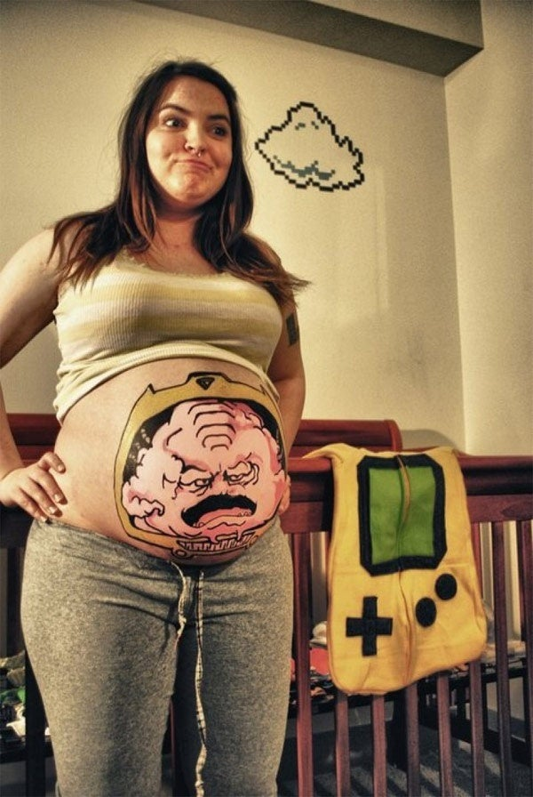 Behold, the Ultimate Pregnant Cosplay: Krang's Body
