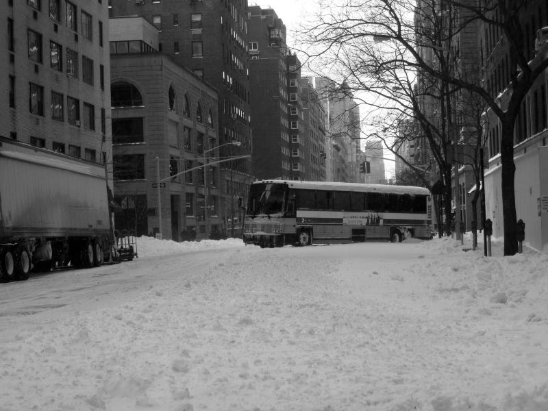 The Post-Snowpocalypse MTA Bus Graveyard
