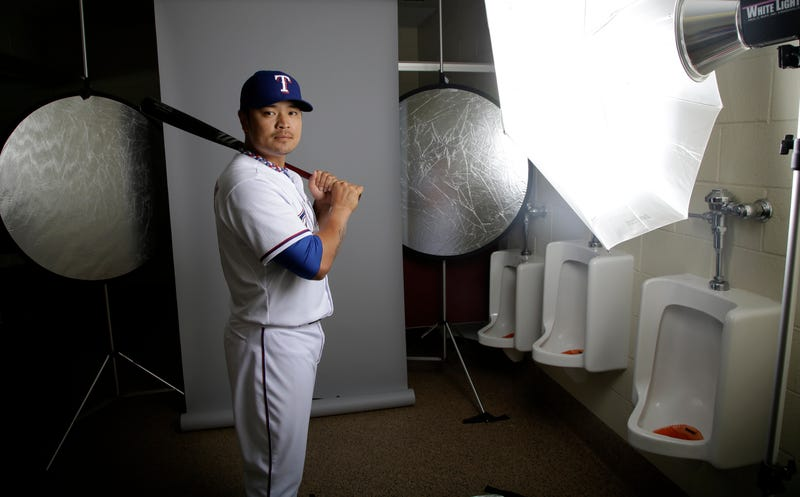 The Rangers Took Their Team Photos In The Bathroom