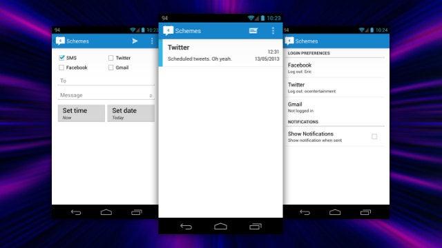 Schemes Schedules Texts, Emails, Tweets and Facebook Posts