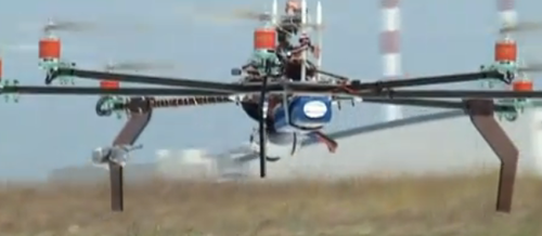 Eight-rotored octocopter is the star of the world's most intense hobby video