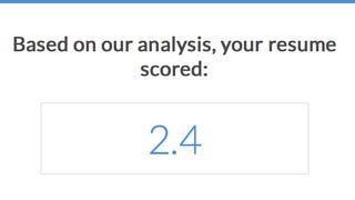 Resumazing Scores Your Resume Based on a Job Posting
