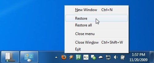Minimize On Start And Close Firefox