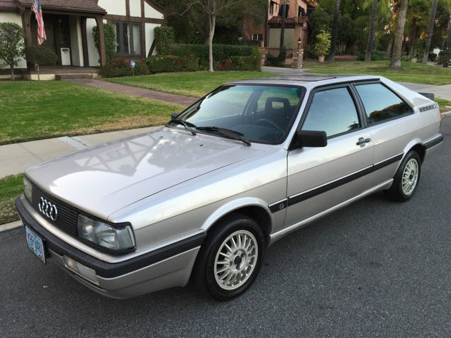 for 6 800 this 1985 audi coupe gt is half a quattro. Black Bedroom Furniture Sets. Home Design Ideas