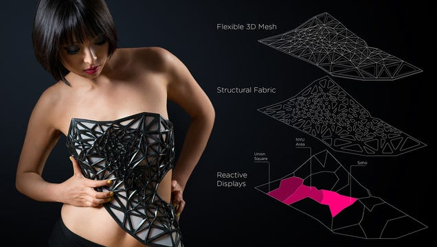 ​​​​This 3D-Printed Dress Reveals More Skin As You Reveal More Data