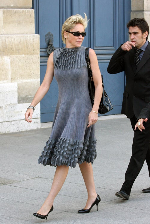 Sharon Stone: Pleats, Pretty Please