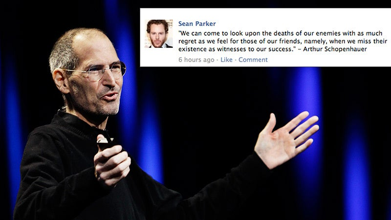 Did Sean Parker Just Dance on Steve Jobs's Professional Grave?