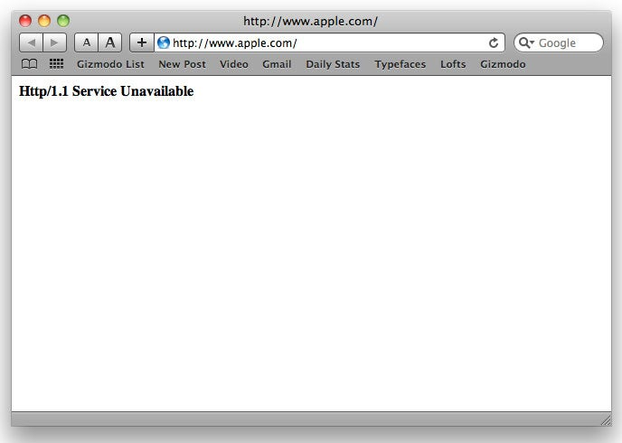 Apple.com Falls for 10 Minutes as Fanboys Worldwide Squeal In a Mix of Panic and Girly Excitement