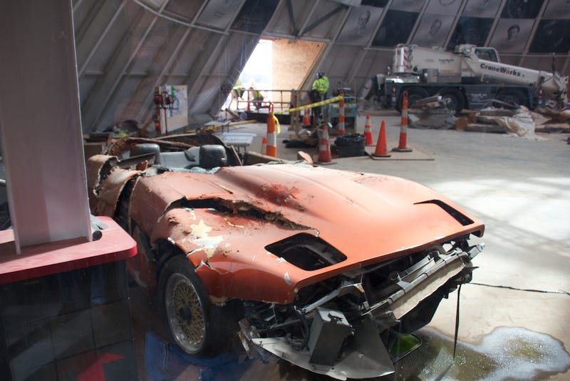 The sinkhole Vettes: the Corvette Museum's most popular exhibit