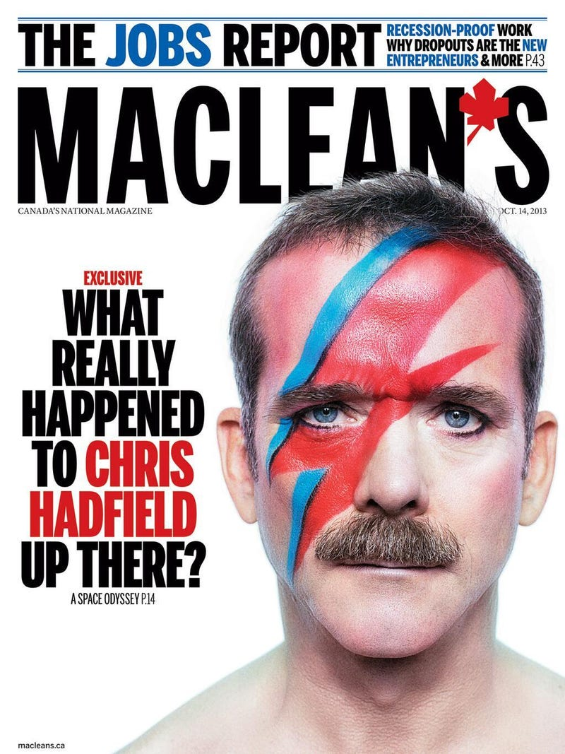 You cannot handle Chris Hadfield as David Bowie
