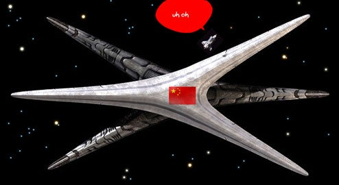 China Building Cylon Basestar Space Engines