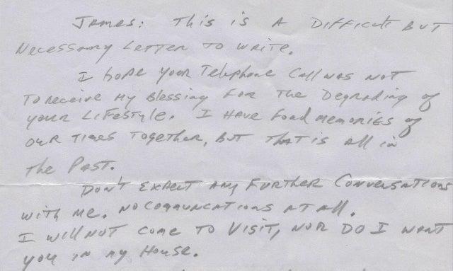 'Goodbye, Dad': Father Disowns Gay Son with Shockingly Heartless Letter