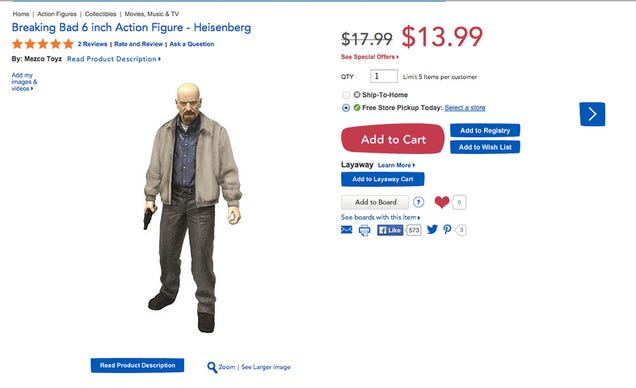 Pissed Mom Wants Breaking Bad Action Figures Off Toys 'R Us Shelves