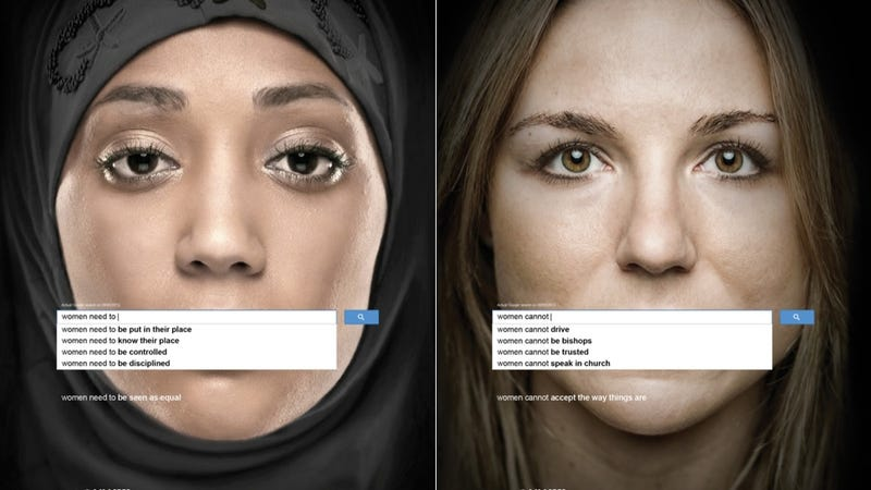 Ad for UN Women Campaign Duplicates Awful Google Search Suggestions