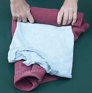 Roll Clothes, Avoid Wrinkles
