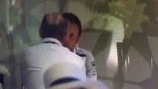 Jenson Button Has A Chat With McLaren Head Ron Dennis