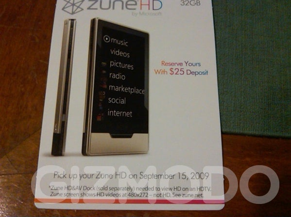 Zune HD's Packaging, Release Date Leaked: September 15th