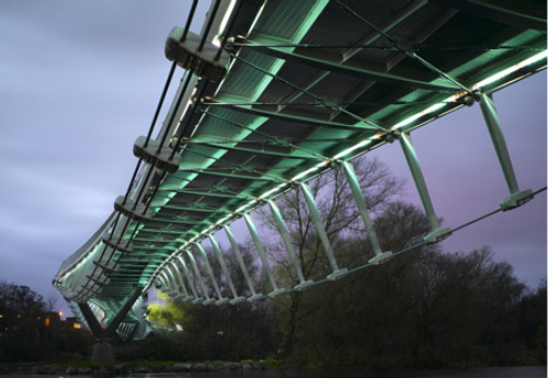 Robo-Centipede Bridges the River Shannon