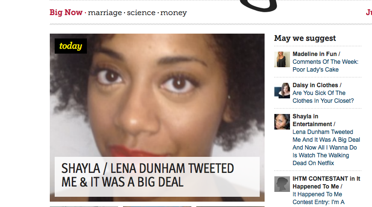 1,139-Word Essay Composed about the Experience of Receiving a Lena Dunham Tweet