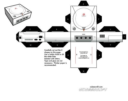 Dreamcast, NES Ported to Papercraft
