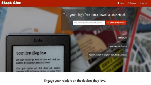 Ebook Glue Transforms Blogs Into Ebooks
