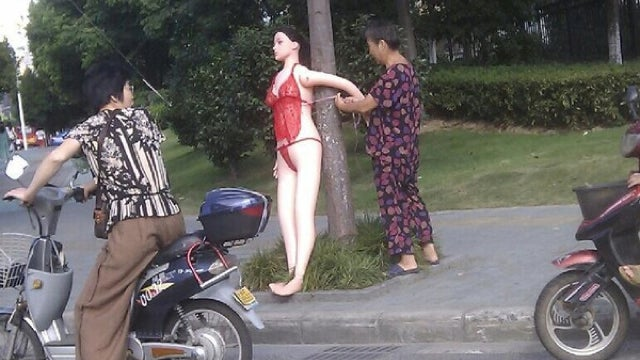 Why the Old Lady Tied the Sex Doll to the Tree