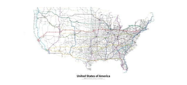A Subway Map of Every Highway and Interstate in the U.S.