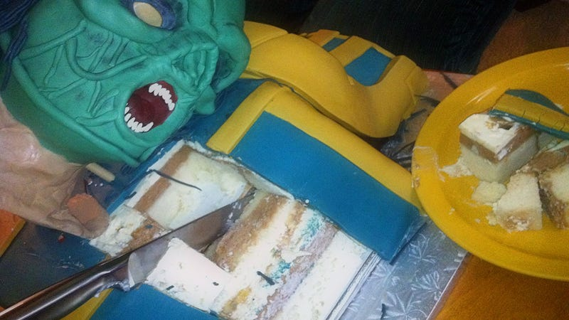 Quake Cake Down