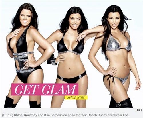Khloe Kardashian Shortened In Swimwear Ad